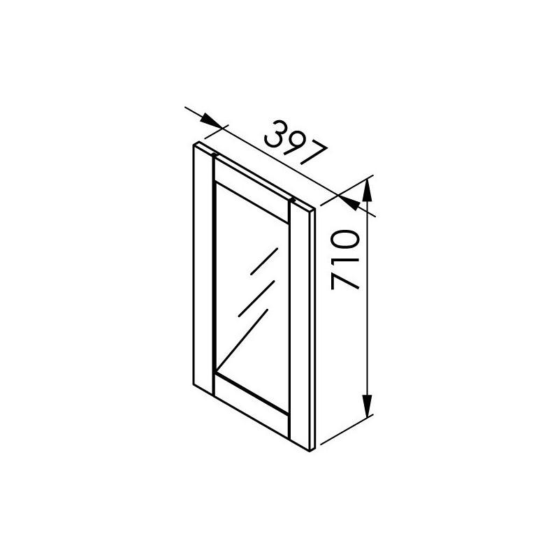 Kit rail haut et bas 4 amortisseurs long 2m25 for Glissiere porte coulissante meuble