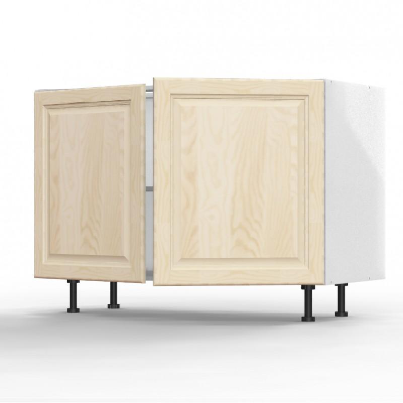 meuble bas 2 portes 80cm caisson gris. Black Bedroom Furniture Sets. Home Design Ideas