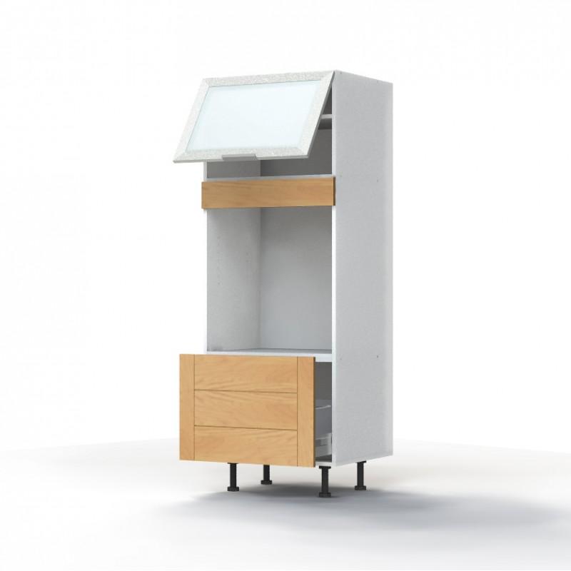 caisson meuble sous vasque ton ch ne. Black Bedroom Furniture Sets. Home Design Ideas