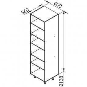 Caisson colonne ton chêne larg.40cm