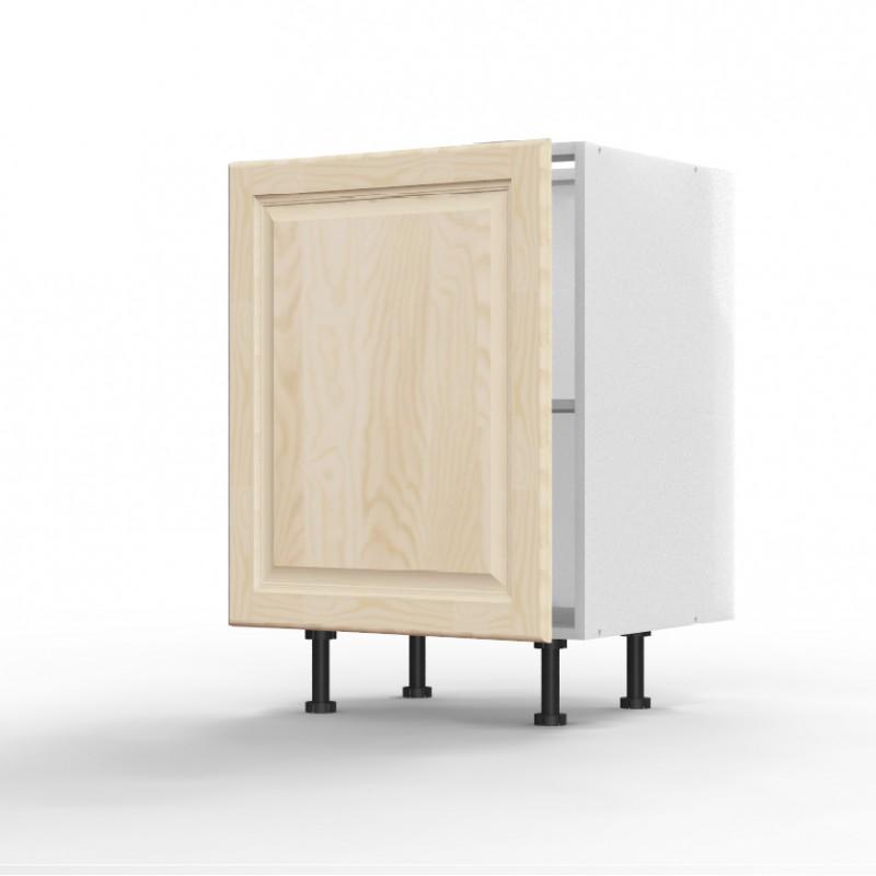 mon espace maison meuble bas cuisine pin massif brut largeur 60cm. Black Bedroom Furniture Sets. Home Design Ideas
