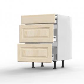 Meuble bas Pennsylvania 1 tiroir - 2 casseroliers L60xH71,5xP56