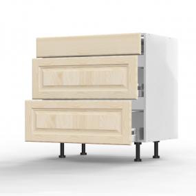 Meuble bas Pennsylvania 1 tiroir - 2 casseroliers L80xH71,5xP56