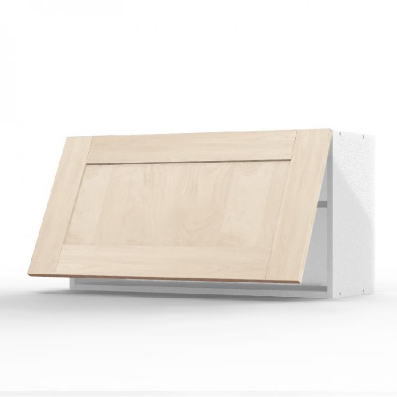 Mon espace maison meuble haut cuisine chene massif brut for Hotte sous meuble haut