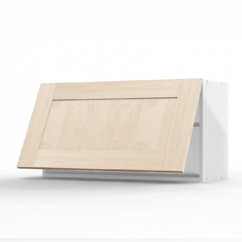 mon espace maison meuble haut cuisine chene massif brut largeur 80cm. Black Bedroom Furniture Sets. Home Design Ideas