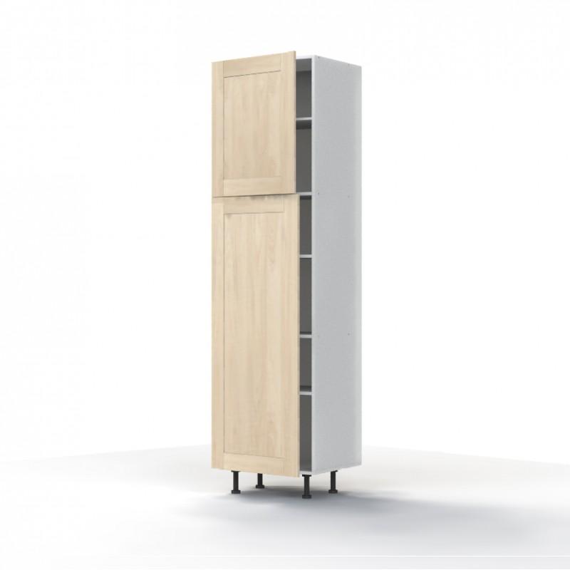 Mon espace maison meuble colonne cuisine chene massif brut largeur 60cm - Colonne cuisine 50 cm largeur ...