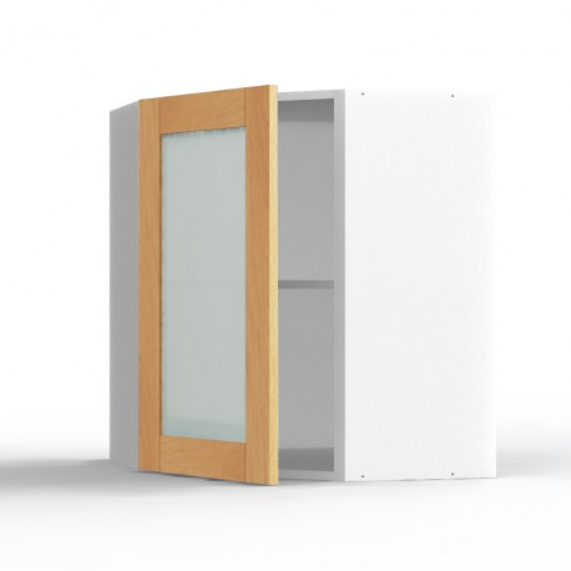 Mon espace maison meuble haut angle cuisine chene massif Agencement cuisine meuble haut 40 cm hauteur