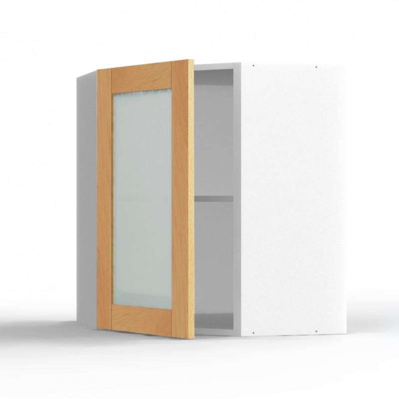 mon espace maison meuble haut angle cuisine chene massif verni largeur 40cm. Black Bedroom Furniture Sets. Home Design Ideas