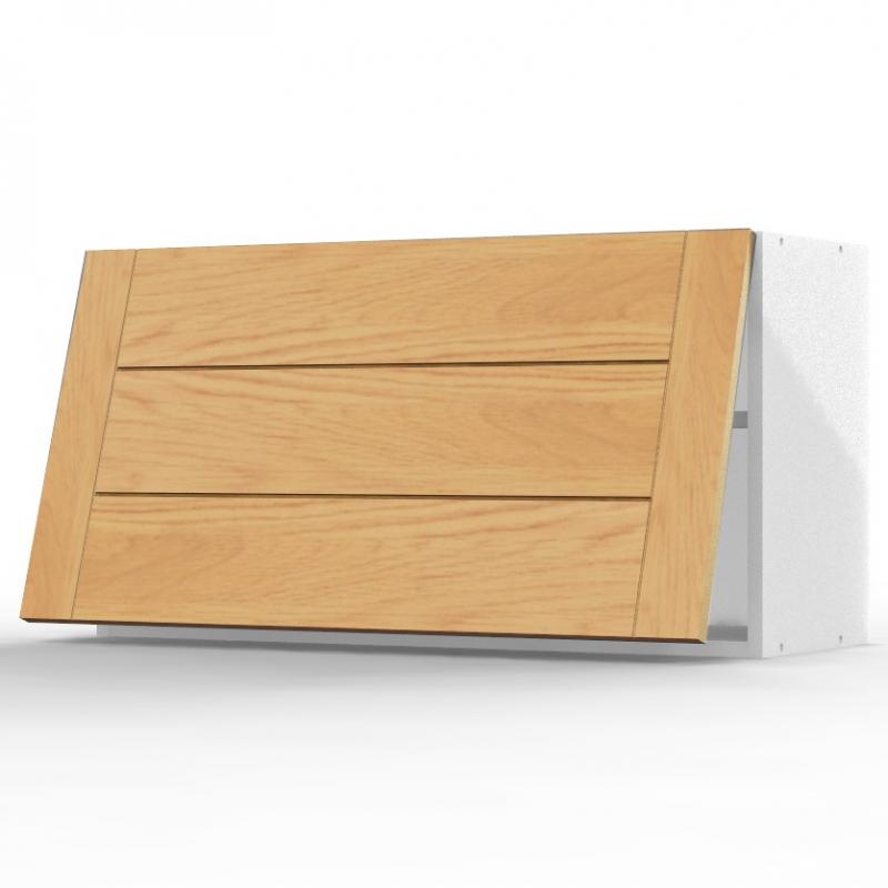 mon espace maison meuble haut sur hotte cuisine chene massif verni largeur 80cm. Black Bedroom Furniture Sets. Home Design Ideas