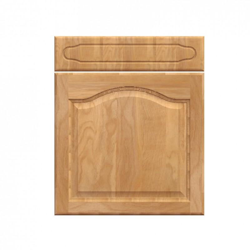 Mon espace maison meuble bas cuisine chene massif verni for Meuble champetre