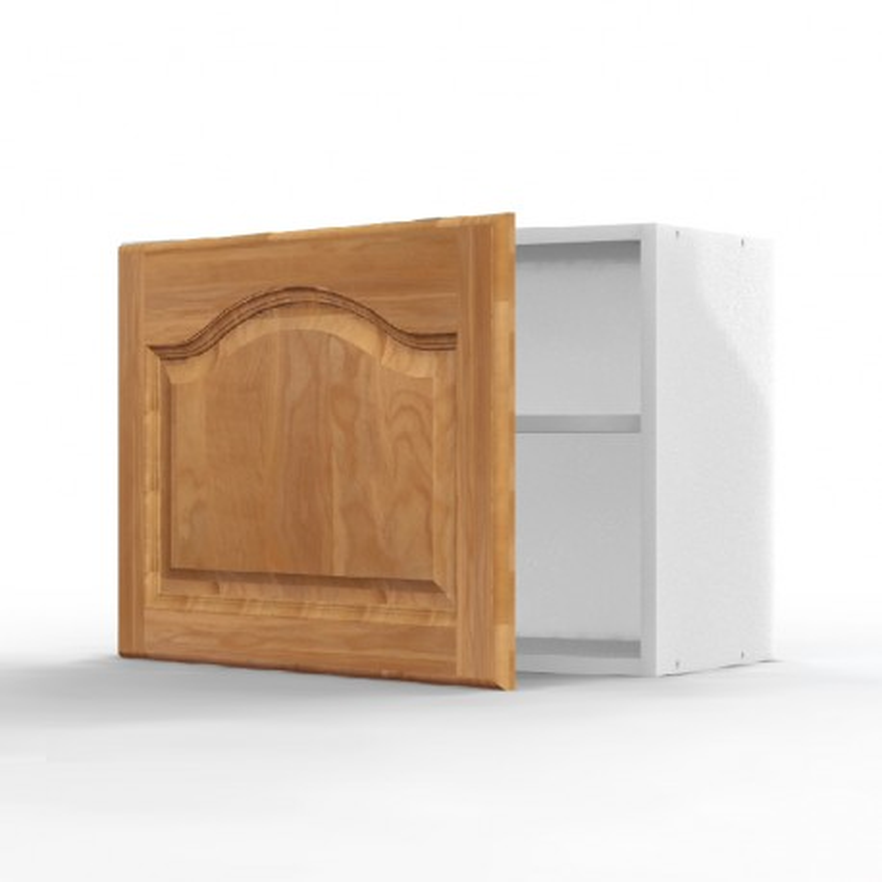 Mon espace maison meuble haut cuisine chene massif verni for Porte cuisine chene