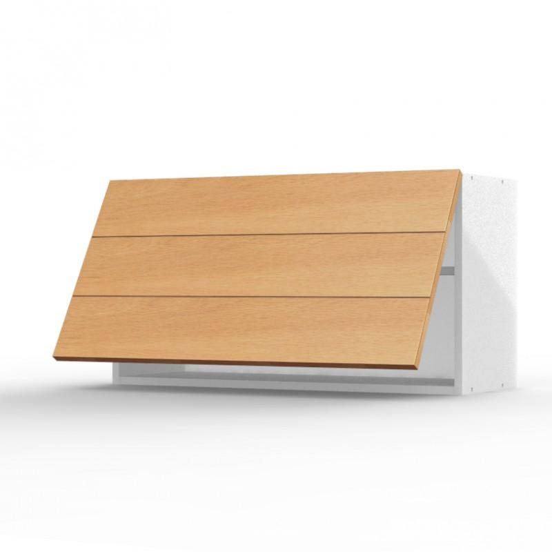 Mon espace maison meuble haut cuisine chene verni for Hotte sous meuble haut