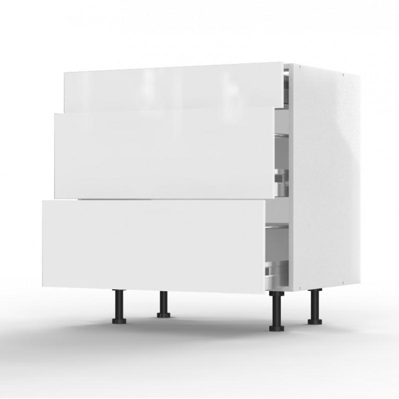 mon espace maison meuble bas cuisine blanc brillant largeur 80cm. Black Bedroom Furniture Sets. Home Design Ideas