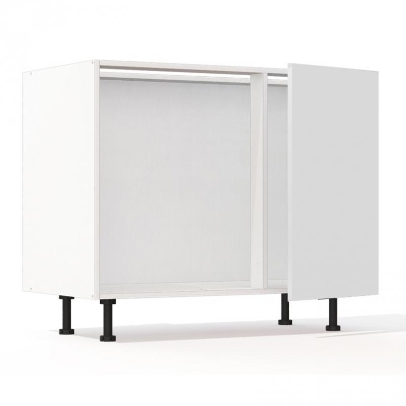 mon espace maison meuble bas cuisine blanc brillant largeur 100cm. Black Bedroom Furniture Sets. Home Design Ideas