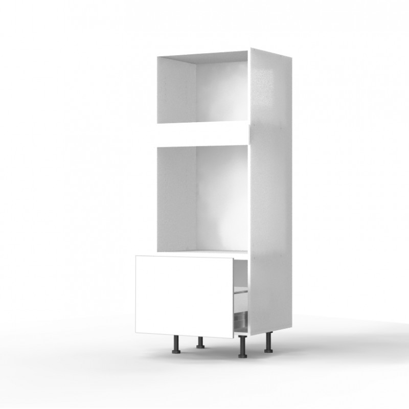 mon espace maison meuble colonne cuisine blanc brillant largeur 60cm. Black Bedroom Furniture Sets. Home Design Ideas