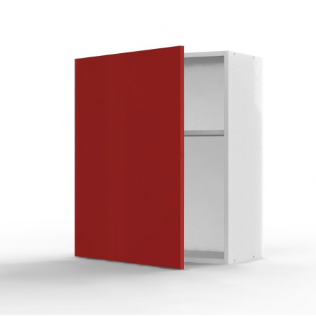 Mon espace maison meuble haut cuisine rouge brillant for Meuble haut profondeur 60