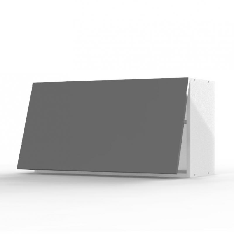 mon espace maison meuble haut cuisine gris brillant largeur 80cm. Black Bedroom Furniture Sets. Home Design Ideas