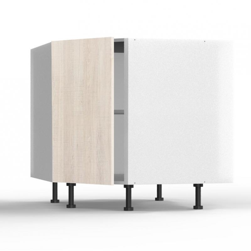 mon espace maison meuble bas angle cuisine noyer blanchi largeur 40cm. Black Bedroom Furniture Sets. Home Design Ideas