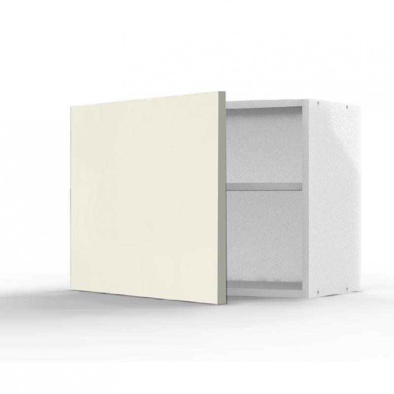 Mon espace maison meuble haut cuisine vanille brillant for Meuble sur hotte ikea