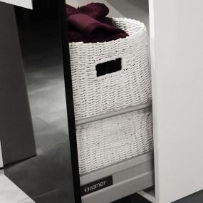 Kit coulisse tiroir Ma-créa amortissable pour colonne