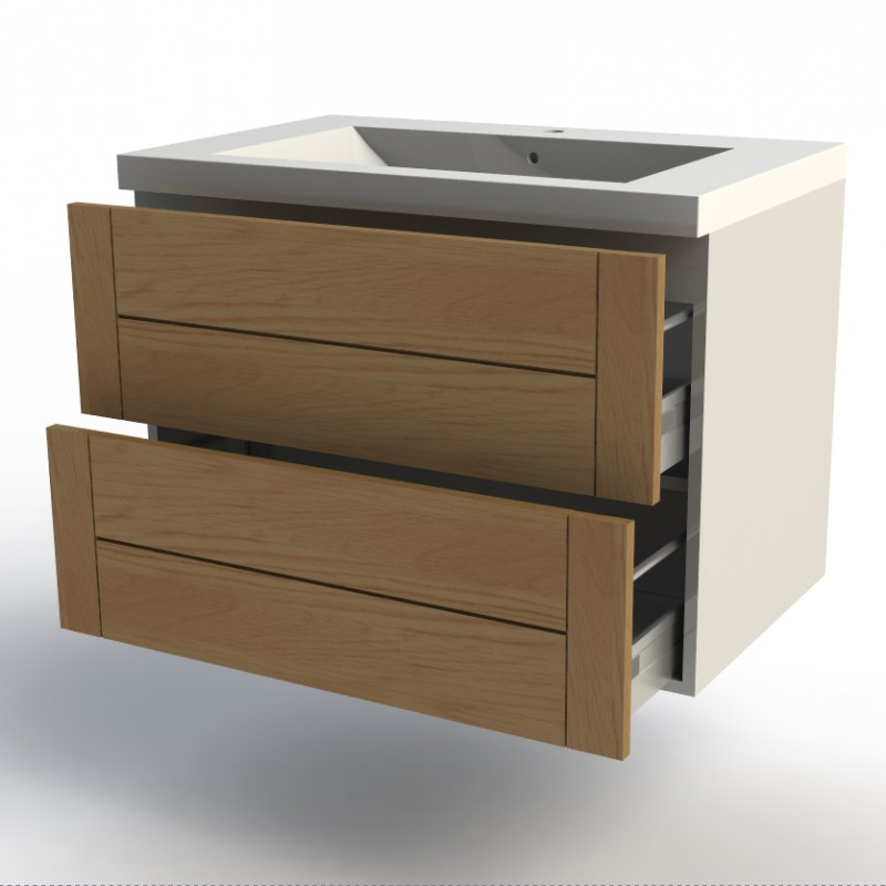 meuble bas salle de bain blanc largeur 80cm facade design 39. Black Bedroom Furniture Sets. Home Design Ideas