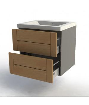 Meuble bas 60cm gris façades Design'