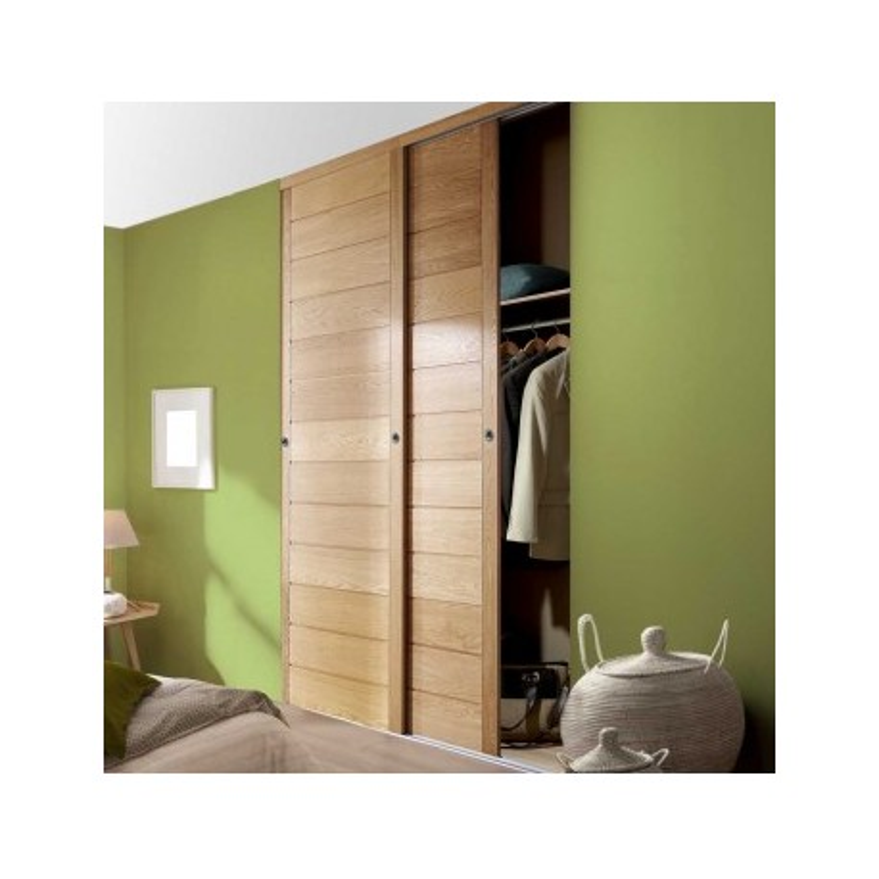 porte de placard coulissante ch ne verni largeur 150cm. Black Bedroom Furniture Sets. Home Design Ideas