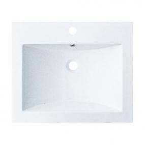 Plan vasque résine blanche larg. 60cm