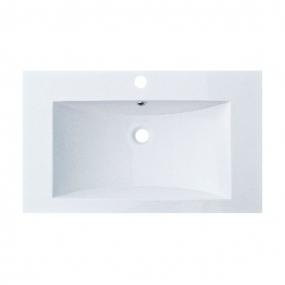 Plan vasque résine blanche larg. 80cm