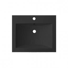 Plan vasque résine noire larg. 60cm