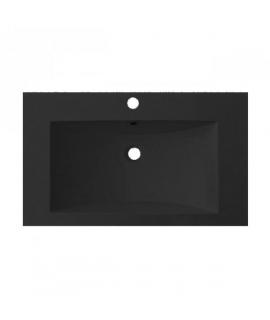 Plan vasque résine noire larg. 80cm
