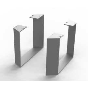 Pieds Ma-créa trapèze alu anodisé pour colonne
