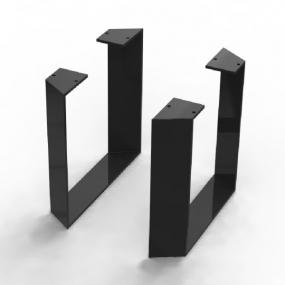 Pieds Ma-créa trapèze alu laqué noir pour colonne