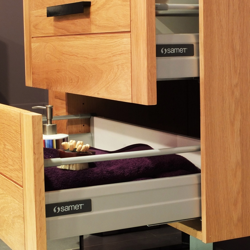 meuble bas salle de bain chene largeur 80cm facade bucolica. Black Bedroom Furniture Sets. Home Design Ideas