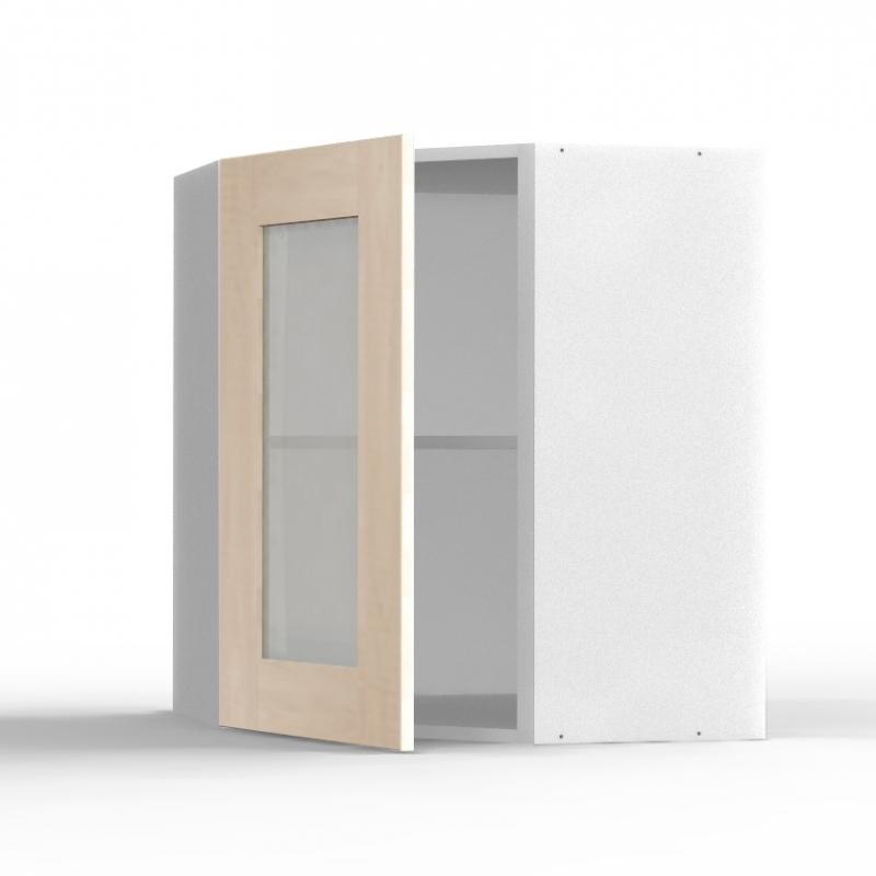 mon espace maison meuble haut angle cuisine chene massif brut largeur 40cm. Black Bedroom Furniture Sets. Home Design Ideas