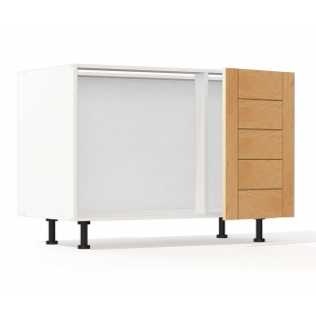 Meuble bas d'angle Design' L100