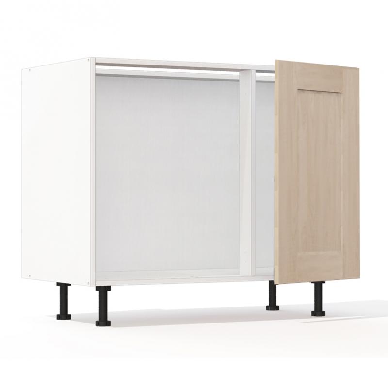 mon espace maison meuble bas angle cuisine chene massif brut largeur 100cm. Black Bedroom Furniture Sets. Home Design Ideas