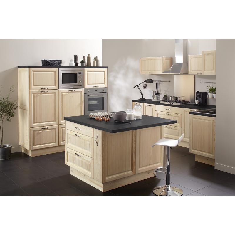 Mon espace maison meuble bas cuisine pin massif brut for Meuble bas cuisine pin