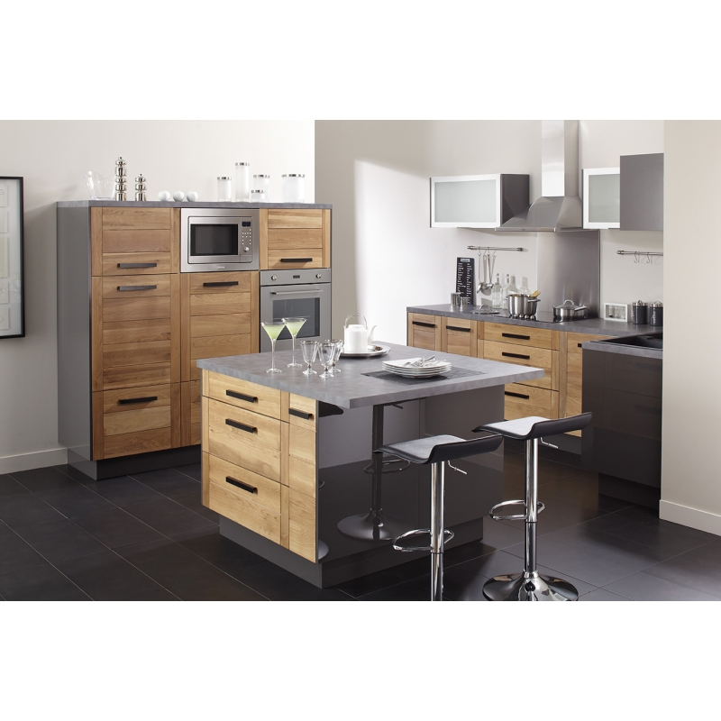 mon espace maison meuble haut sur hotte cuisine chene massif verni largeur 60cm. Black Bedroom Furniture Sets. Home Design Ideas