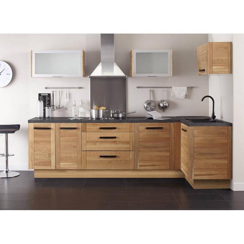 mon espace maison meuble bas angle cuisine chene massif verni largeur 100cm. Black Bedroom Furniture Sets. Home Design Ideas