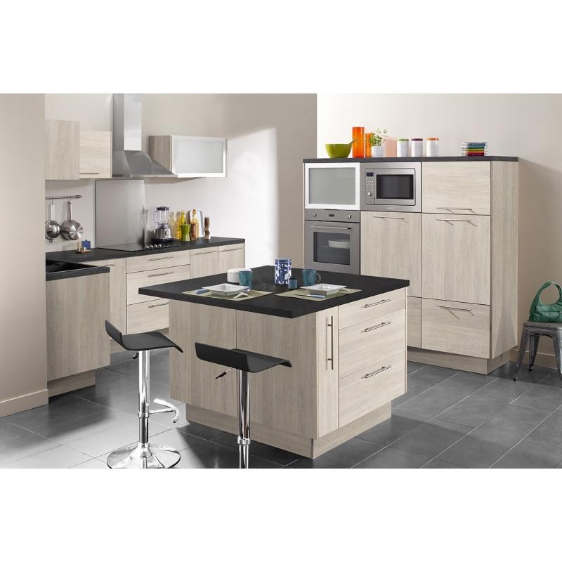 Mon espace maison meuble bas angle cuisine chene clair largeur 100cm - Meuble angle bas cuisine ...