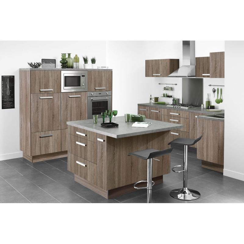 mon espace maison facade cuisine melamine decor bois structure ch ne fum. Black Bedroom Furniture Sets. Home Design Ideas