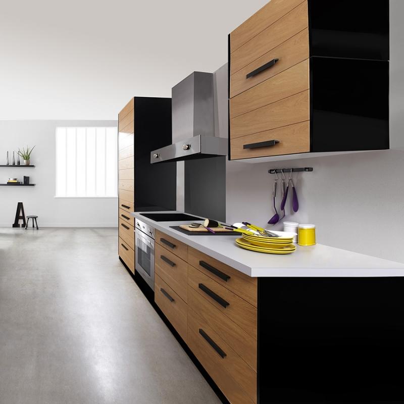 mon espace maison meuble haut cuisine chene verni largeur 80cm. Black Bedroom Furniture Sets. Home Design Ideas