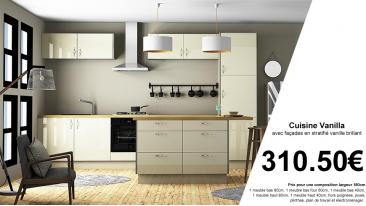 Vanilla meubles de cuisine vanille chants bicolores for Chant meuble cuisine